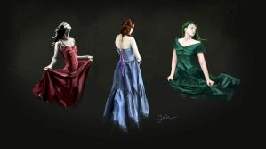 3 dresses. 3 colors by YairMor