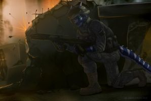 Cover me! Reloading! by 2078