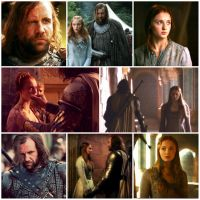 Sandor/Sansa Collage5 by lilfeather1994