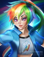 Rainbow Dash Human Version by lancercross