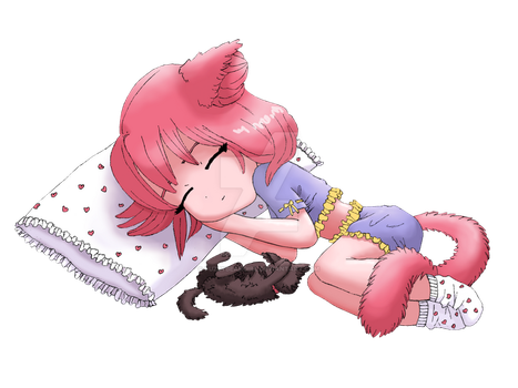 Sleeping Mimi by fuzzybeargirl