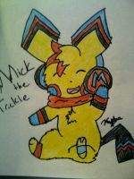 Drawing of Mike the Trickle by LovelyRedRose
