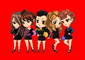 Cute Wonder Girls Be My Baby In Colour by jessyho862010