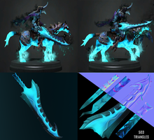 dota 2 abaddon's imperial wrath blade by DragonisAris