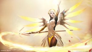 Mercy Overwatch by Jackiefelixart