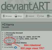 600 page views by Citarra