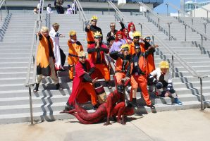 Naruto Gathering: Naruto and Family by miss-a-r-t