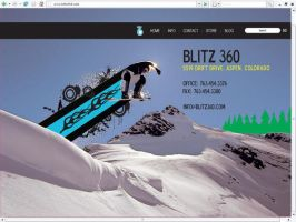Blitz 360 Contact Page by davilesdesigns