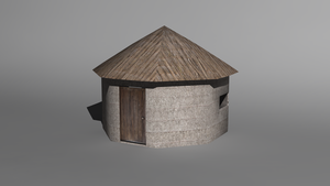 African Jungle Hut by Krayzieee