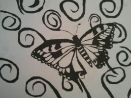 Butterfly Painting by SingWriteDraw