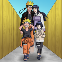 Naruhina Now And Then 2012 by mattwilson83