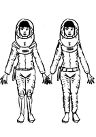 Space Girl - space suit concepts by Renegade-Hamster