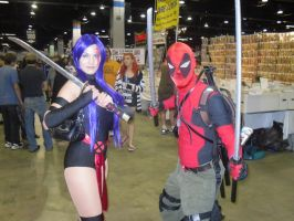 DEADPOOL And PSYLOCKE by Darth-Slayer