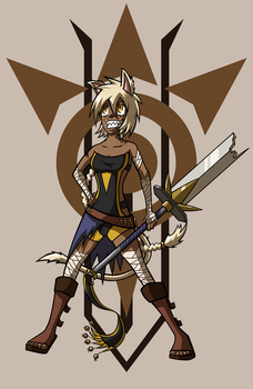 Catgirl Barbarian by Gee-Man