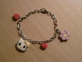 Bangle with Hello Kitty fimo by bimbalove81