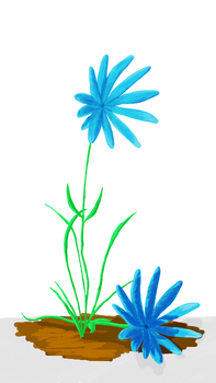 Blue Daisy by 80jumpo