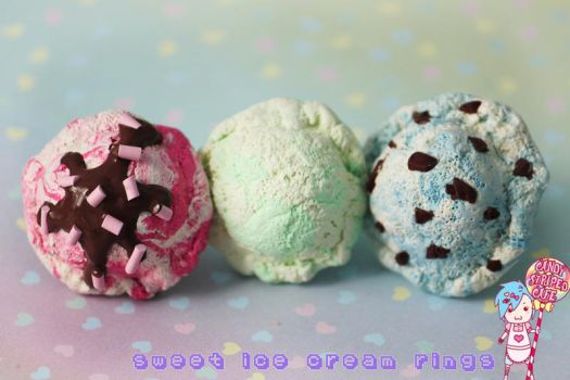 Sweet Ice Cream Rings by CandyStripedCafe