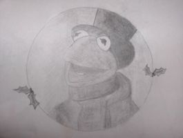 Kermit as Bob Cratchit by keepsgettingbetter