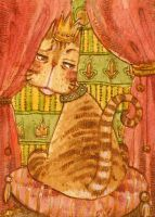 ACEO - Your company bores me.. by Adelaida