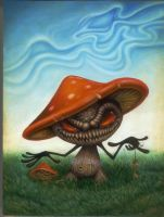 the key oil painting shrooms by JasonJacenko
