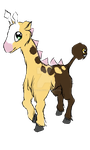 Pokemon #203 Girafarig! by Kittexs