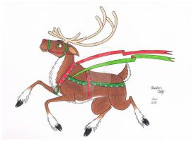 Christmas Reindeer by Everch