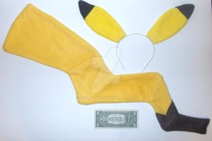 Pikachu Headband and Tail set by LenKitty