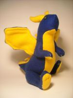 Blue Dragon Plushie by Ghost-Apple