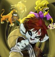 Lion king Gaaras team by MiyuRandom