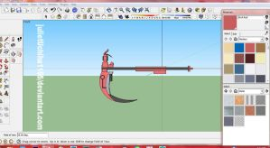 RWBY: Ruby's Scythe WIP1 by julietUchiha1165