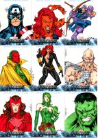 Avengers sketchcards set 1 by SpiderGuile