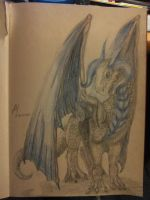 The Blue Dragon by BlueLittleTree