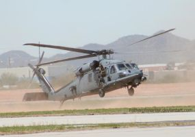 Black Hawk Landing by fatherofanartist