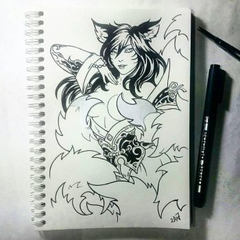 Instaart - Ahri (NSFW optional) by Candra
