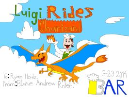 Luigi Rides Charizard by BARproductions