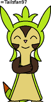Happy Chespin by FluffyFerret97
