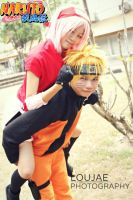 Piggyback ride- narusaku by Lawrielle21