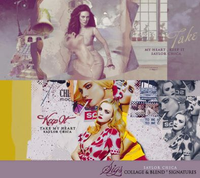 blend and collage sigs by saylorgirl