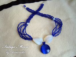 Necklace 'Indigo Moon' by aoimevelho