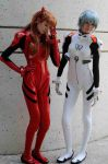 Asuka and Rei - Evangelion: 8 by popecerebus