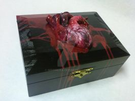 Sculpted Human Heart box by MissNicka