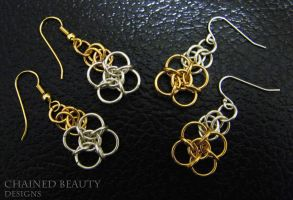 Gold and Silver Knots by ChainedBeauty