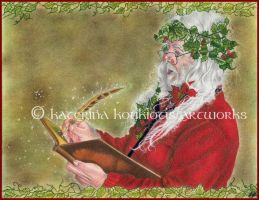 Santa's List by Katerina-Art