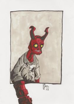 Kid Hellboy by WillWatt