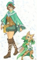 Water-based Media: Monster Hunter Scouts by sarahsmiles916