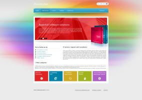 Creative Software Web Template by coleg