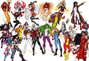 Marvel Divas Penultimate by CrimsonArtz