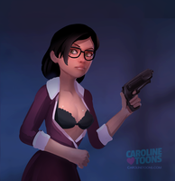 Miss Pauling - clothed version by VaultMan