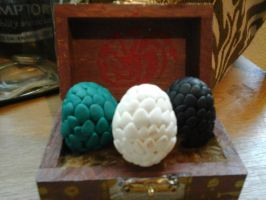Fimo Game of Thrones Dragon Eggs by kshepherd5