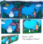 My neighbor Totoro small square by elvira-creations